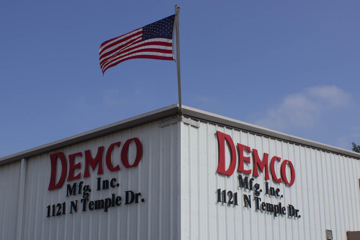demco shop and flag
